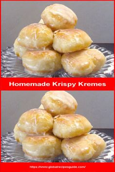 Homemade Krispy Kremes - Daily World Cuisine Recipes Whats Gaby Cooking, Pancake Cake, Tasty, Yummy Food, Pastry Blender, Daily Meals, What To Cook, Tray Bakes, Meal Ideas