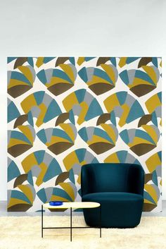 Washable Trevira® CS fabric with graphic pattern ALLURE - LELIEVRE
