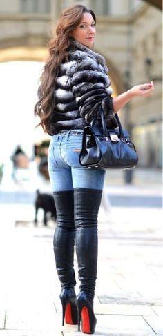 thigh high boots by maritza