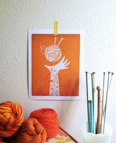 orange and knitting - two of my favorite things!