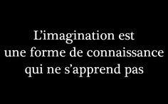 L'imagination est une forme de connaissance qui ne s'apprend pas