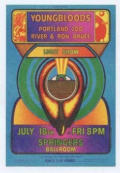 Youngbloods Portland Zoo 1969 Jul 18 Springers Ballroom Portland Handbill