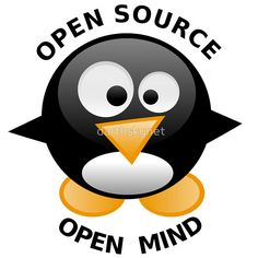 Text Open Source Open Mind with Tux Penguin in the middle. • Also buy this artwork on stickers, apparel, phone cases, and more.