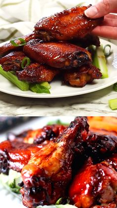 Teriyaki Chicken Wings…phenomenal, the best you'll ever eat. Tender and bursting with flavor. Slightly crispy with a sauce that's on the wings and not laying beside it in a little puddle and very easy to make. Asian Recipes, Mexican Food Recipes, Vegetarian Recipes, Cooking Recipes, Chicken Wing Recipes, Easy Teriyaki Chicken Wings Recipe, Chinese Chicken On A Stick Recipe, Teriyaki Wings, Soy Sauce Chicken