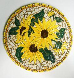 Mosaic Wall Art Handmade Ceramic Tile by HouseofWhisperingFir