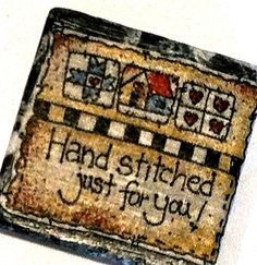 Magnet quilted look hand stitched for you