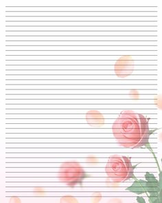 Printable Writing Paper by LadyOfManyArtForms