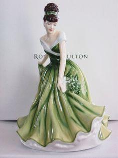 """Royal Doulton Flower of the Month - December,"""" Mistletoe"""""""
