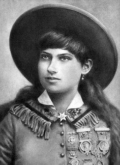 Annie Oakley   Drawn in charcoal. Women in the Wild West oft…   Flickr