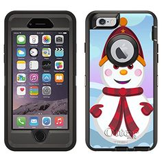 OtterBox Defender Case for Apple iPhone 6  Cute Snowman in Red ** You can find more details by visiting the image link.