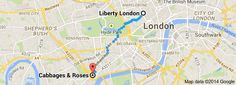 Da: Liberty London, Regent St, London W1B 5AH, Regno Unito A: Cabbages & Roses, 123 Sydney St, London SW3 6NR, Regno Unito