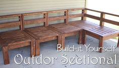 My DIY Outdoor Sectional - When we moved to a new house we inherited a great patio in the backyard! We wanted to make it a nice hang-out spot for the summer by…