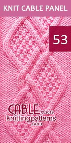 Knit Cable Panel Pattern 53, its FREE