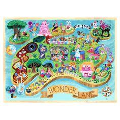 Luke Flowers: Wonderland Map Print