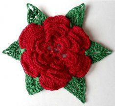 Red Irish Rose Free Pattern [FP391] - $0.00 : Maggie Weldon, Free Crochet Patterns