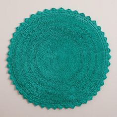 One of my favorite discoveries at WorldMarket.com: Turquoise Round Bath Mat
