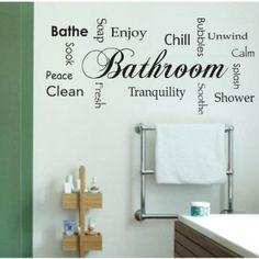 Decorazione per il tuo bagno- Bathroom design - Adesivo da parete Vinyl Wall Stickers Decals