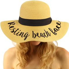 Fun Verbiage Elegant Wide Brim Summer Derby Beach Pool Floppy Dress Sun Hat Natural (alcohol you later) Fedora Beach, Beach Hats, Pool Wedding, Destination Wedding, Wide Brim Sun Hat, Cute Handbags, Cool Hats, Beach Pool, Summer Hats