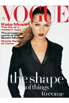 August 1994 Photographed by Juergen Teller in a Helmut Lang tuxedo jacket.  Photo By Juergen Teller  http://www.vogue.co.uk/spy/celebrity-photos/2011/05/19/style-file---kate-moss/viewgalleryframe/394951?
