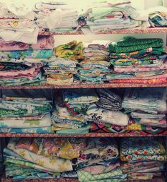 Vintage Fabrics ~ such a pretty stash! @Karen Pokryfke this will be you someday!! :)