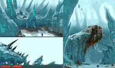 Evolve Environment Previs01, Stephen Oakley on ArtStation at https://www.artstation.com/artwork/evolve-environment-previs01