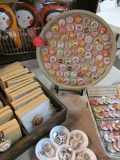 magnet display--cookie sheet  Great display idea for craft show or flea market or other