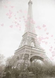 Travel Photograph - Paris France - Eiffel Tower  - whimsical - romantic - for lovers - 8 x 10. $25.00, via Etsy.