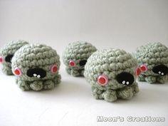 Zombie Octopus - Amigurumi Cephalopod. $12.00, via Etsy.