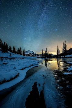 Stars over Tipsoo - in Mt. Rainier National Park in Washington | by krbackwoodsphotography