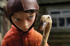 """""""Peter and the Wolf"""" Stop motion film by Suzie Templeton, 2006. Image links to video."""
