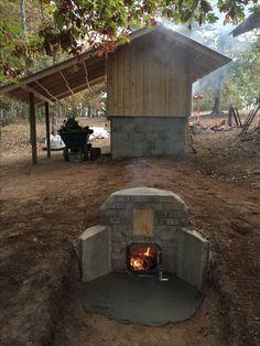 smokehouse and firebox