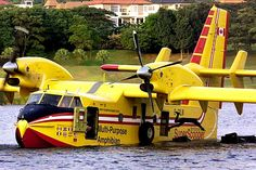 """Bombardier 415: """"Superscooper"""" — Water Bomber -- The Bombardier 415 is an amphibious Canadian water bomber — the only aircraft specifically designed for aerial firefighting."""