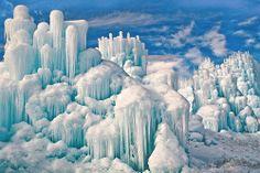 The Ice Castle at Zermatt Resort in Midway, Utah