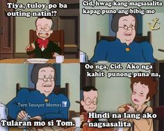Tagalog Quotes, Qoutes, Funny Hugot Lines, Toddler Menu, Hugot Quotes, Cartoon Quotes, Best Memes, Puns, Haha