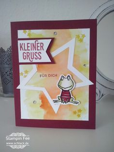 stampin love you lots frog  frosch