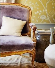 Le vintage, le violet et le jaune___ Créez votre horizon_ Jedecoremonvolet.com