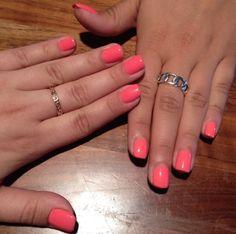 Peach/Coral Gel Nails