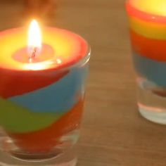 Gel Candles, Wood Wick Candles, Scented Candles, Diy Candles With Crayons, Diy Crayons, Diy Rainbow Candles, Spa Party, Diy Wedding Ring, Jelly Soap