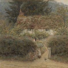 Helen Allingham 'Cottage at Grayswood, near Witley, Surrey' 19thC watercolour | Flickr - Photo Sharing!