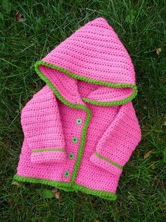 Crochet Baby Hooded Sweater Pattern Free : ??For the Love of Crochet?? on Pinterest Free Crochet ...