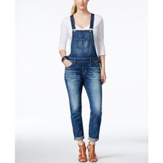 Big Star Cropped Maracaibo Wash Denim Overalls ($138) ❤ liked on Polyvore featuring jumpsuits, maracaibo, bib overalls, overalls jumpsuit, white overalls, white denim overalls and white jumpsuit