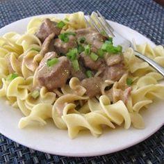 Slow Cooker Beef Stroganoff I Allrecipes.com
