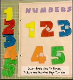First Time Mom and Losing It: Quiet Book How To Series: Picture and Number Page #Tutorial