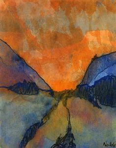 Mountain Landscape   Emil Nolde