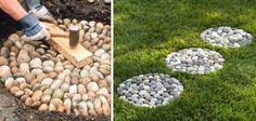 Nápady a Tipy Beautiful Roads, Landscaping With Rocks, Landscaping Ideas, Garden Table, Backyard Patio, Backyard Ideas, Stone Art, Tile Design, Garden Planning