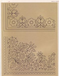 pattern for Bauernmalerei Hungarian Embroidery, Embroidery Motifs, Vintage Embroidery, Diy Embroidery, Cross Stitch Embroidery, Cross Stitch Patterns, Embroidery Designs, Doodle Patterns, Craft Patterns