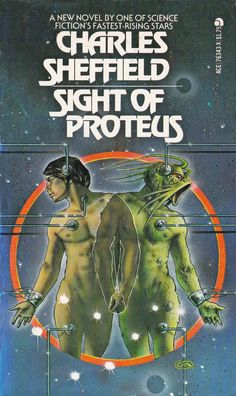 Charles Sheffield. Sight Of Proteus Cover Art Clive Caldwell