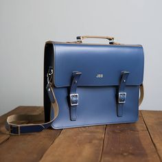 personalised leather laptop bag by brit-stitch | notonthehighstreet.com
