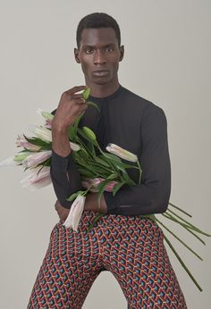 Adonis Bosso wearing Gucci Autumn/Winter 2015, photographed by Dominik Tarabanski and styled by Anatoli Smith for 032c Magazine