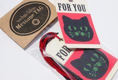 メッセージタグ 黒猫FORYOU by oppo-shop 文房具・ステーショナリー カード・レター・ラッピング